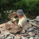 Rachalan juillet 2009 - dernières pierres de la voute