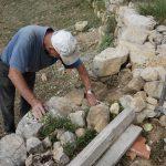 restauration du mur de soutien du mazet