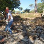 sept 2019: mise en place des pierres de bordure